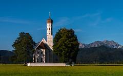 St. Coloman, Schwangau (achim-51) Tags: gras wiese baum gebäude kirche church himmel berge gebirge panasonic lumix dmcg5 bayern schwangau de germany