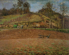 Camille Pissarro - Ploughed Land, 1874 at French Landscape Paintings from The Pushkin State Museum of Fine Arts Moscow at Tokyo Metropolitan Art Museum Tokyo Japan (mbell1975) Tags: taitōku tōkyōto japan jp camille pissarro ploughed land 1874 french landscape paintings from the pushkin state museum fine arts moscow tokyo metropolitan art museo musée musee muzeum museu musum müze museet finearts gallery gallerie beauxarts beaux galleria painting impression impressionist impressionism