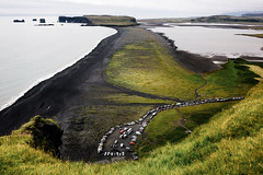untitled (Maj. Major Major Major) Tags: iceland is ocean blacksand beach cars moss grass nature leica leicam
