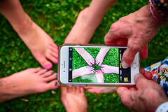 Pedicure Party (flashfix) Tags: august252018 2018inphotos ottawa ontario canada nikond7100 nikon flashfix flashfixphotography iphone iphonetography pedicure colourful grass 28mm