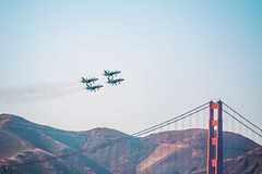Blue Angels (Thomas Hawk) Tags: america bayarea blueangels california goldengatebridge marinadistrict navy sfbayarea sanfrancisco usnavy usa unitedstates unitedstatesnavy unitedstatesofamerica westcoast airplane bridge military us fav10 fav25 fav50 fav100