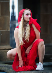 Portrait from the 2018 Edinburgh Festival Fringe - The Bacchanals (Gordon.A) Tags: scotland edinburgh fringe edinburghfestival edinburghfestivalfringe edfringe edfest august 2018 embra auldreekie dùnèideann festival festiwal festivaali festivalen wyl féile festspiele theatre actor actress artist arts artsfestival performingartsfestival performer performers bacchanals euripides bacchae mikra theatricals greek mythology comedy pretty woman lady face people red costume creative culture urban city outdoor outdoors outside pose posed portrait colour color colourful digital canon eos 750d sigma sigma50100mmf18dc