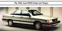 1986 Audi 5000S Sedan (aldenjewell) Tags: 1986 audi 5000s sedan brochure