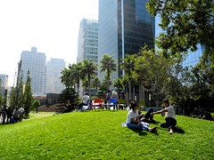 little knoll (citymaus) Tags: transbay terminal salesforce park publicspace soma sanfrancisco sf rooftop roof top little knoll mound grass people sitting urban