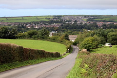 Egremont (Cumberland Patriot) Tags: egremont cumbria county of cumberland green verdant landscape picture image scurgill terrace road hill slope