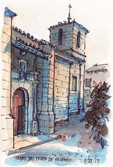Casas del Puerto de Villatoro (P.Barahona) Tags: rural iglesia portada arquitectura torre