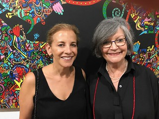 FIU Frost Art Museum director Jordana Pomeroy with Liana Perez at the Rojas Ford Gallery