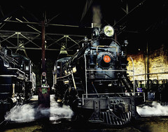 024693763751-104-Steam Locomotive-5-Film (Jim There's things half in shadow and in light) Tags: america ely nevada nevadanorthernrailwaymuseum southwest usa whitepinecounty history locomotive museum rail steam