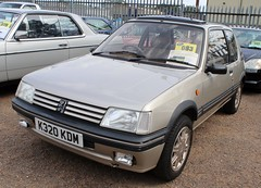 K320 KDM (1) (Nivek.Old.Gold) Tags: 1992 peugeot 205 gentry auto 3door 1905cc dickens chester aca