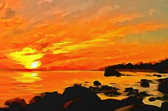 Sunset (Kalev Vask.) Tags: digital kalevvask postprocessed photomanipulation digiart photoart painterly artistic creative estonia summer manipulated ownphoto phototopainting sunset topazstudio 2018 mediachance dap sea