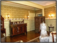 Sonnenberg Gardens & Mansion ~ Historic Park ~ Canandaigua NY -  Former Dining  Room - Museum (Onasill ~ Bill Badzo - 54M View - Thank You) Tags: sonnenberg gardens mansion historic park canandaigua ny ontario county onasill nrhp queen anne architecture historical building interior fireplace moose victorian style finger lakes house turrets sky clouds 73001240 outdoor garden country period room recreation old vintage photo museum dresses sofa 275 chandelier window