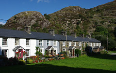 Beddgelert, North Wales (Blue Sky Pix) Tags: stone cottages beddgelert northwales snowdonia wales holidays sunny mountains nationalpark greatbritain pentax