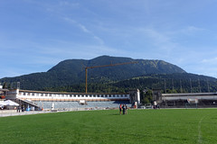 2018-09-09 Garmisch-Partenkirchen 007 Skistadion (Allie_Caulfield) Tags: foto photo image picture bild flickr high resolution hires jpg jpeg geotagged geo stockphoto cc sony rx100 summer sommer bayern alpen bavaria garmisch partenkirchen eckbauer alm partnachklamm wetterstein zugspitze gebirge bergbahn seilbahn wandern wanderung iv