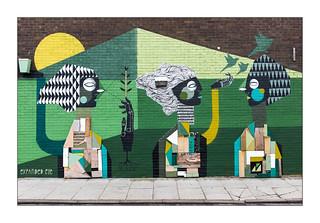 Street Art (Expanded Eye), East London, England.