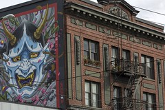 Art / Deco (Clayton Perry Photoworks) Tags: vancouver bc canada summer explorebc explorecanada downtown city mainstreet art mural vancouvermuralfestival skyline building jamesacrow