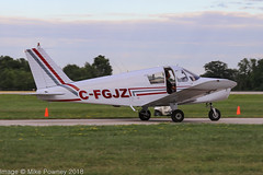 C-FGJZ - 1969 build Piper PA-28-140 Cherokee, shortly after arrival at Oshkosh during Airventure 2018 (egcc) Tags: 2511136ontario 2825281 airventure airventure2018 cfgjz cherokee eaa kosh lightroom n8036n osh oshkosh pa28 pa28140 piper