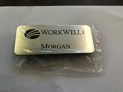 WorkWell (Sir Speedy Pittsburgh) Tags: name tag badge badges tags magnetic metal