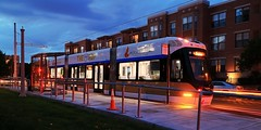 The Hop at Burns Commons (johndecember) Tags: thehopmke brookvillelibertymodernstreetcar 21stcenturytransit 21stcenturystreetcar transit presentedbypotawatomihotelcasino onthetracksmke testing twilight milwaukee mke wisconsin usa album 2018 september summer gallery