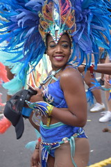DSC_8376 Notting Hill Caribbean Carnival London Exotic Colourful Blue and Silver Costume with Ostrich Feather Headdress Girls Dancing Showgirl Performers Aug 27 2018 Stunning Ladies (photographer695) Tags: notting hill caribbean carnival london exotic colourful costume girls dancing showgirl performers aug 27 2018 stunning ladies blue silver with ostrich feather headdress