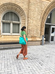 Simi off to work (olive witch) Tags: 2018 abeerhoque day fem outdoors philadelphia philly sep18 september