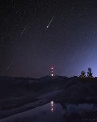 Make a wish (Ron Jansen - EyeSeeLight Photography) Tags: buskerud jonsknuten kongsberg norway summer meteor meteors shower show perseid perseids falling star stars tower colors night haida mood