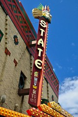 State Theatre, Bay City, MI (Robby Virus) Tags: baycity michigan mi state theater theatre cinema vaudeville movies live performances sign signage marquee