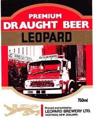 New Zealand - Leopard Brewery Ltd. (Hastings) (cigpack.at) Tags: newzealand neuseeland premium draught beer leopard brewery hastings bier brauerei label etikett bierflasche bieretikett flaschenetikett