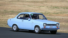 Original Mk 1 ESCORTS (1/2) (Jungle Jack Movements (ferroequinologist)) Tags: ford escort mark i 1 one sydney motor sport motorsport park eastern creek nsw new south wales classic car festival blue yellow auto automobile polish show vehicle sedan collectable veteran old historic history vintage rare beautiful restored hottie fast great drive speed wheel exhaust loud rumble paint seat hood horsepower cubic inches hp bhp drag gear shift clutch tour touring owner proud bonnet colour color transport pride engine 1300 xl coupe