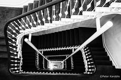 Hamburg - Treppenhaus / staircase (peterkaroblis) Tags: hamburg treppenhaus staircase haus house building gebäude innenansicht architektur architecture interiordesign schwarzweiss blackwhite innenarchitektur interieur interiorarchitecture lines curves linesandcurves geometry geometrie