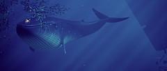 gigantic... a big, big love (Rakkhive) Tags: abzû abzu underwater diving sea underwaterexploration fish shark dolphin orca whale reshade cinematicdof screenshot screenarchery gamephotography