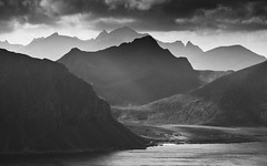 lofoten (Ela Dzimitko) Tags: blackandwhite blackwhite landscape beams sun sunset sea water norway lofo lofoten mountains mountans hill hills hiking hillwalking backpacking weather clouds atmospheric eladzimitko stunningoutdoors island uttakliev utakliev