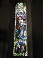 The St. John the Baptist and Jesus Stained Glass Window; St Mark the Evangelist Church of England - George Street, Fitzroy (raaen99) Tags: brooksrobinsonandcompany brooksrobinsoncompany brooksrobinsonstainedglass brooksrobinsoncompanystainedglass brooksrobinsonandcompanystainedglass stainedglass 20thcenturystainedglass twentiethcenturystainedglass leadlight leadlightglass 1920s 20s johnthebaptist holyspirit jesusandjohnthebaptist baptism riverjordan jesus malesaint saint bible biblical allegorical allegory symbol symbolism gospel bookofluke bookofgospels iris water baptize stmarktheevangelist stmarks stmarksfitzroy stmarksanglican churchofengland anglicanchurch anglican fitzroychurch fitzroy georgest georgestreet church placeofworship religion religiousbuilding religious melbourne melbournearchitecture victoria australia gothicarchitecture gothicrevivalarchitecture gothicrevivalchurch gothicchurch gothicbuilding gothicrevivalbuilding gothicstyle gothicrevivalstyle architecture building window stainedglasswindow gothic gothicdetail lancet lancetwindow