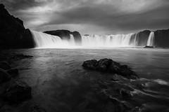 Godafoss B&W (Longleaf.Photography) Tags: godafoss waterfall river bw iceland storm grand mist