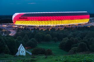 Allianz Arena mit Kircherl