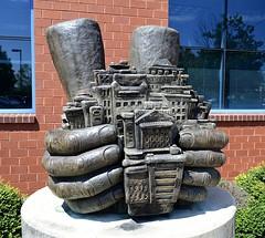 RAA Sculpture (pjpink) Tags: urban city rva richmond virginia august 2018 summer pjpink 2catswithcameras sculpture