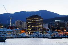 20180914-15-Hobart and Mt Wellington (Roger T Wong) Tags: 2018 australia hunterdock hunterstreet rogertwong sel24105g sony24105 sonya7iii sonyalpha7iii sonyfe24105mmf4goss sonyilce7m3 city evening twilight waterfront