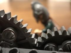 Working the machine (BeaLeiderman) Tags: lego macro macromonday gear cogwheel