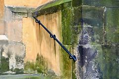 Railings on the church (Yirka51) Tags: rot rust mold iron wall town stonewall stone rail railing prague metal church historical historic handrail guardrail facade dirty city centraleurope castle building architecture