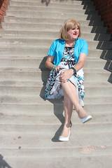 new126434-IMG_5558t (Misscherieamor) Tags: transvestite sissy crossdress tgirl transgender travestis travestie travesti tranny tv ts cd tg m2f tgurl gurl mature xdresser feminine femme transformation travestido travestit travestito traviesa transwoman prettydress sitting slipshowing onstairs