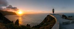 Faro de Punta Ortegal (pgonmay) Tags: nikon panoramica panoramic sunset sundown summer tokina nodal galicia ortegal faro lighthouse mar sea sun ngc