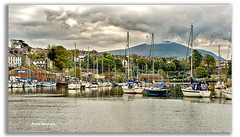 Conwy, Wales (redsky67) Tags: england wales mountains castle boat landscape
