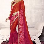 www.kollybollyethnics.com/party-wear-red-maroon-color-saree-02-19002 thumbnail