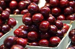 Cherry pyramid (afagen) Tags: vancouver britishcolumbia bc canada granvilleisland granvilleislandpublicmarket publicmarket market food cherry