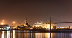 USS Iowa 85mm LR final (sassiitalytours) Tags: ussiowa nikon nikond810 battleship harbor longexposure night bridge losangeles longbeach