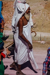 Sadhu During Holi Pilgrimage (AdamCohn) Tags: abeer adamcohn hindu india vrindavan baba gulal holi pilgrim pilgrimage pilgrims sadhu अबीर गुलाल होली