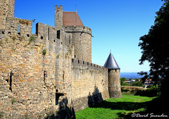 The Walls of Carcassonne (Wipeout Dave) Tags: davidsnowdonphotography canoneos80d france town carcassonne lacité languedocroussillon aude occitanie medieval citadel ramparts walls watchtower