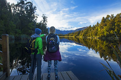 Lake Matheson (Matt Champlin) Tags: lakematheson newzealand amazing travel women fun hiking adventure mirror mountains exotic winter morning sunrise peaceful nature landscape awesome canon 2018 mtcook mttasman