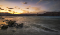 Sunset by the lake (malhotraXtreme) Tags: leh ladakh himacchal himalayas manali kullu india trip solo pangong nubra valley mountains sony alpha a6000 lens wide landscape nature photography colour astrophotography astro