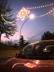 Reflection on a car n.3 (Fiat) (Vincenzo Elviretti) Tags: fiato 600 seicento vado canale dado fornaci bellegra lazio italia roma europa car reflection riflesso macchina autovettura luci festa luminarie