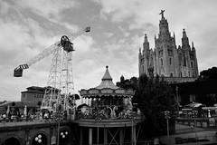 Temple Expiatori del Sagrat Cor. Tibidabo, Barcelona (Ermanno Albano) Tags: street streetphotography tibidabo barcelona spain espana blackwhite blacknwhite blackandwhite
